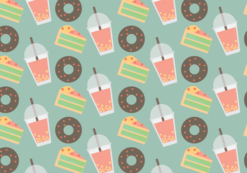 Free Bubble Tea Vector Pattern #1 - Free vector #357313