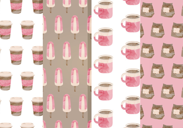 Free Cafe Vector Patterns - vector gratuit #357323