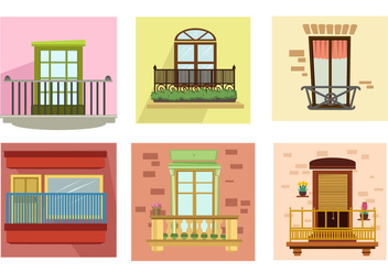 Apartment Balcony Vector - vector gratuit #357363