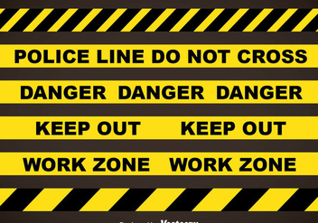 Police Line And Danger Tapes Vector Sets - Free vector #357393