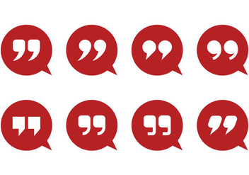 Quotation Mark And Bubble Vectors - vector gratuit #357413
