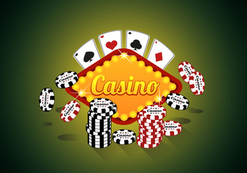 Casino Royale Poker Premium Quality Illustration Vector - vector gratuit #357463
