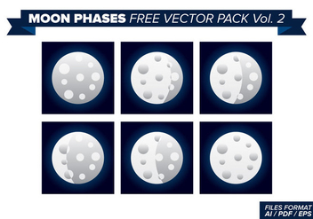 Moon Phases Free Vector Pack 2 - Kostenloses vector #357483