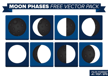 Moon Phases Free Vector Pack - бесплатный vector #357493