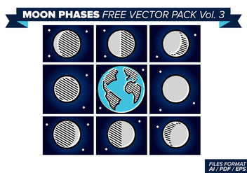 Moon Phases Free Vector Pack 3 - бесплатный vector #357503