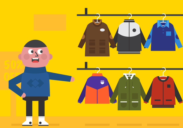 Boy Winter Coat Vector Sale - Free vector #357523