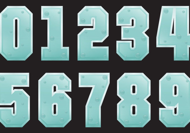 Freezing Number Vectors - vector #357533 gratis