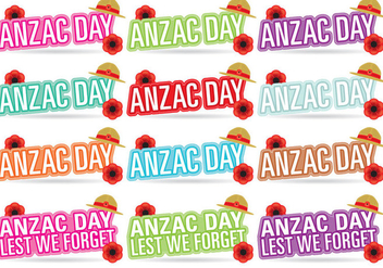 Anzac Day Titles - Free vector #357613