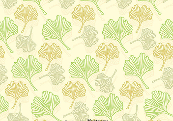 Ginkgo Leaves Pattern - vector #357623 gratis