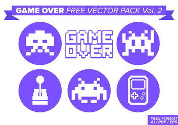 Game Over Free Vector Pack Vol. 2 - Kostenloses vector #357633
