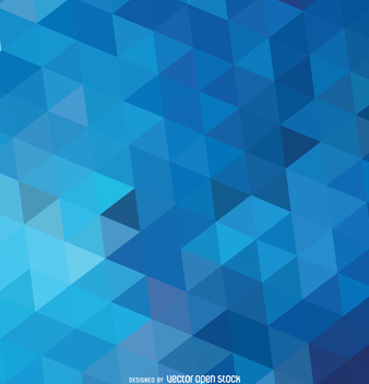 Abstract polygonal blue background - vector #357683 gratis