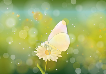 Butterfly Hijau Background Vector - Free vector #357733