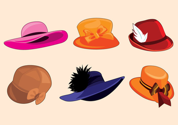 Ladies Hat Vector - Free vector #357743