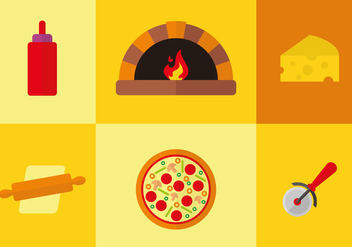 Pizza Pictogram Vector - Free vector #357803