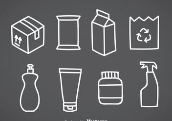 Package White Icons - vector gratuit #357813