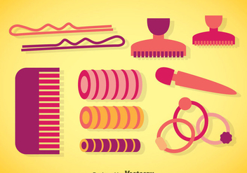 Hair Accessories Vectors - vector #357823 gratis