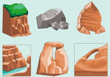 Eroded Canyon Soil Vector - vector #357833 gratis