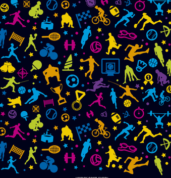 Sports colorful background over black - vector gratuit #357863