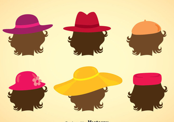 Ladies Hats Collection Vector - Kostenloses vector #357933