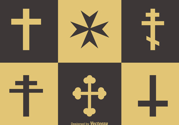 Free Religion Crosses Vector Icons - Free vector #357943
