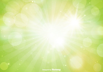 Beautiful Green Spring Bokeh Background - vector gratuit #357963