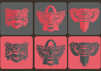 Barong Bali Simple Vector - vector #358003 gratis