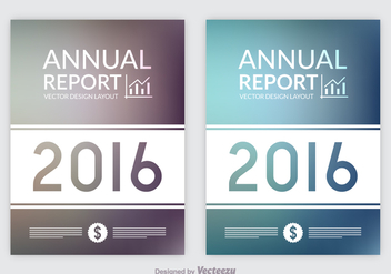 Free Annual Report Designs Vector - Free vector #358013