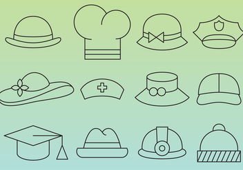 Hat Line Icons - vector #358033 gratis
