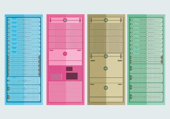 Server Rack Vector - vector #358053 gratis