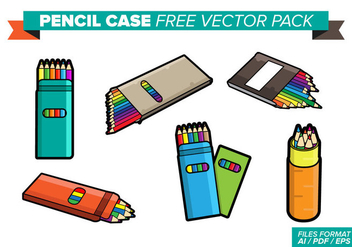 Pencil Case Free Vector Pack - vector gratuit #358063