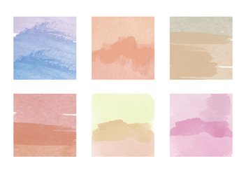 Vector Watercolor Squares - vector gratuit #358123