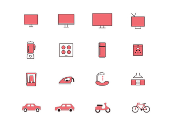 Color Full Multipurpose Vector Icons - бесплатный vector #358163