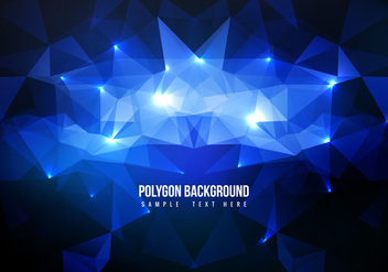 Free Blue Polygon Vector Background - vector gratuit #358183
