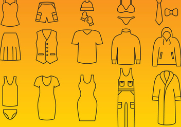 Clothes Icon Vectors - vector #358203 gratis