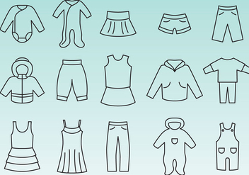 Infant Clothes Icon Vectors - vector gratuit #358243