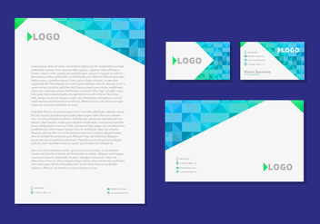 Letter Head Design Business Cards Corporate Identity Stationery - бесплатный vector #358273