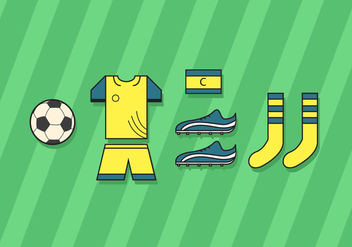 Football Kit Vector - vector gratuit #358293