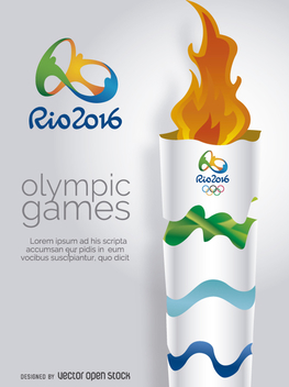 Olympics Rio 2016-Olympic Torch - Free vector #358323