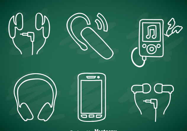 Music Player Element Doddle Icons - Free vector #358343