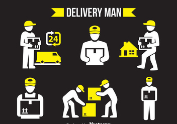 Delivery Man Vector Sets - vector gratuit #358363