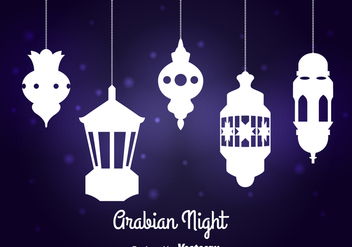 Arabian Night Lamp Vector - vector #358373 gratis