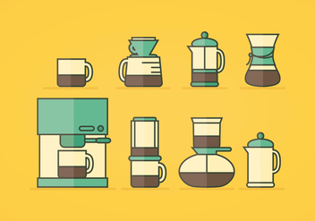 Vector Coffee Icons - Kostenloses vector #358433