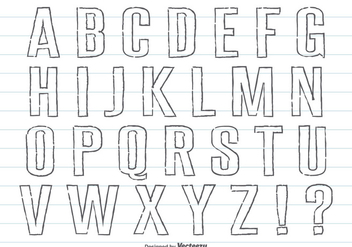 Hand Drawn Pencil Style Alphabet Set - Free vector #358453