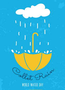 World Water Day - Collect rain - Free vector #358493