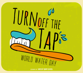 World Water Day - Turn off the tap - Free vector #358503