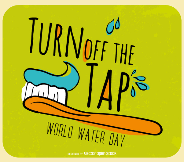 World Water Day - Turn off the tap - vector #358503 gratis