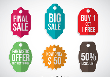 Promotion Labels Vector - vector #358533 gratis