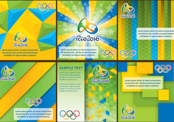 Rio 2016 Backgrounds - бесплатный vector #358563