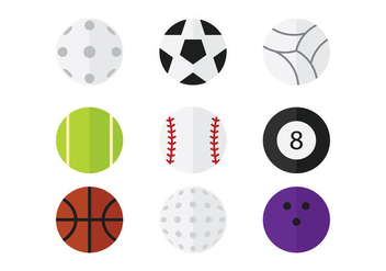 Sport Ball Vector Pack - vector gratuit #358683