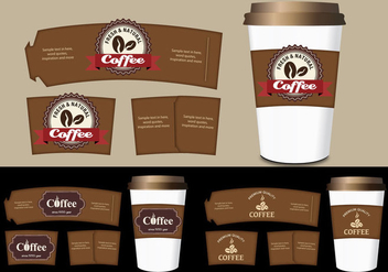 Coffee Sleeve Templates Vector Set - vector #358763 gratis